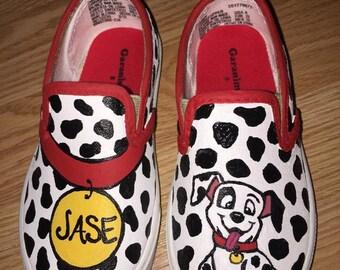 Dalmatian- 101 Dalmatians Hand Painted Shoes