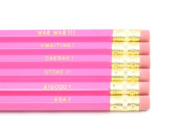Kdrama Cheers - Set of 6  Hot Pencils / Kdrama / Kpop