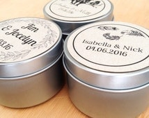 Set of 100 - Soy 4oz Candle / Wedding Gift / Favors / Free Shipping
