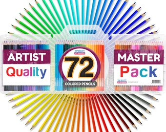 Best Colored Pencils - 72 Coloring Pencil Set With Case - Artist Professional [Free Shipping]