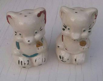 Vintage Cat Salt and Pepper Shaker Set