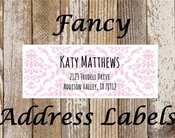 Fancy Address Labels, mailing labels, return address stickers, address labels, address stickers, personal address labels