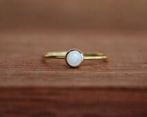 bridesmaid pearl ring, freshwater pearl ring, stacking pearl ring, mini stacking pearl ring, stackable pearl ring, gold pearl ring