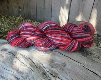 Hand Dyed Superwash Merino Nylon Sock Yarn, Firework