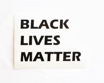Black lives matter decal Inspirational decals Vinyl Wall Stickers Removable wallpaper Laptop sticker Laptop decal Quote decal