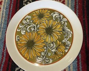Vintage Mikasa Duplex Serving Plate • Sunflowers