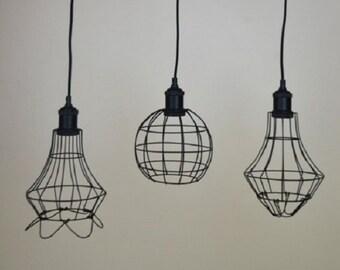 CAGE PENDANT LIGHT Pendant Lighting vintage lamp wall lamp Industrial Chandelier Cage  Lantern Chandelier Modern lighting Kitchen Chandelier