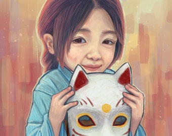 Girl with a Fox Mask