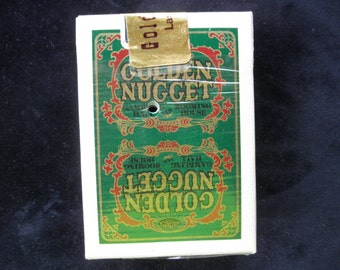 Vintage Golden Nugget Casino Playing Cards Re Sealed by Casino Las Vegas Memorabilia