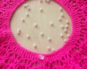 knitted lace collar. handmade
