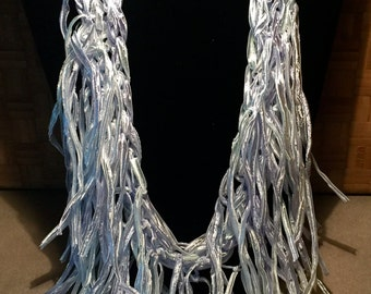 Tassled ribbon scarf