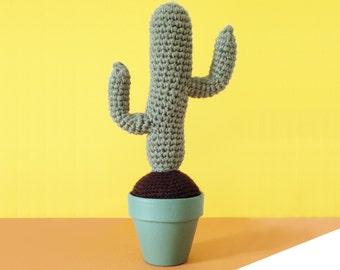 Crochet Cactus-Crocheted saguaro cactus