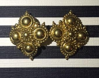 Gold 'Royal'  Earrings