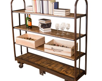 1115 Vintage Cart With Shelves