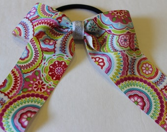 Hot Pink/Yellow/Turquoise Design Bow