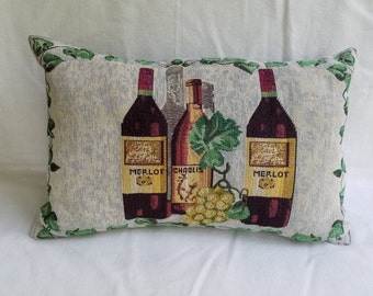 Wine Print Pillow
