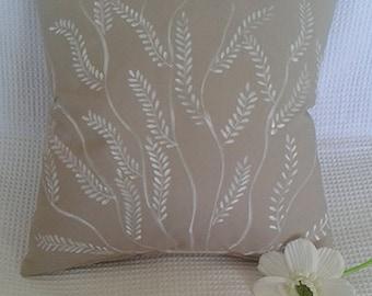 white flower pillow cover