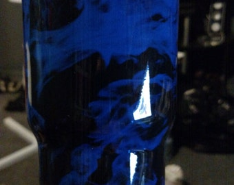 Ghost Flame Custom Hydrographic dipped Stainless 30oz RTIC tumbler