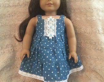 "18"" doll polkadot sun dress and shoes"