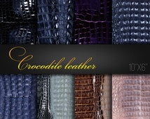 Digital Papers For Craft / Natural Crocodile Leather Textures / Pack of 8 JPG files / Crocodile Skin / Digital Scrapbook Paper / Real Photos