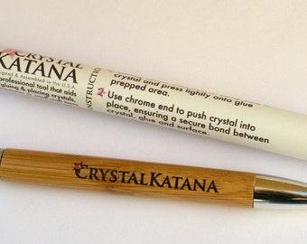 Crystal Katana Rhinestone Swarvoski Nail Art Pick Up Tool with FREE crystals