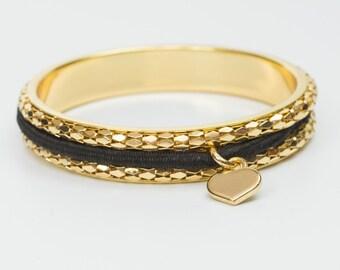Busy Girl Bangle Gold - Hair Tie Bracelet