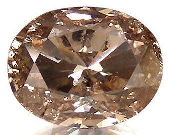 loose diamond# 0.85 Oval Fancy Deep Brown Natural Loose Diamond.