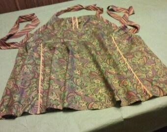 Retro Apron, handmade new, Autumn Colors