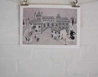Little Town - Giclee Fine Art Print