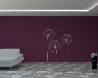 Dandelion Wall Sticker - Dandelion Wall Decal - Vinyl Sticker - Dandelions Wall Art - Home Decor