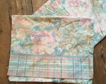 Pair of Vintage floral pillowcases