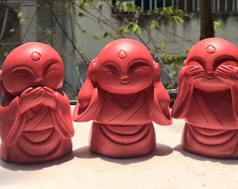 Three little Buddha speak no evil, see no evil, hear no evil