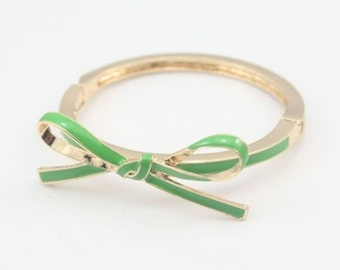 Green Bow Bangle
