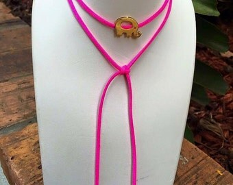 Elephant Leather necklace
