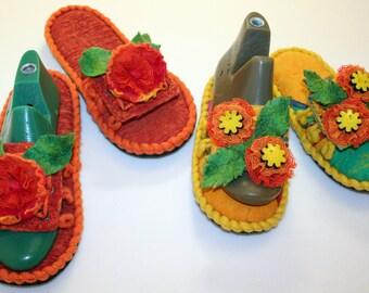 "Felt Shoes for woman ""Summer""-2"