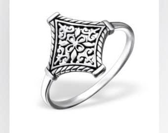 Esso sterling silver ring