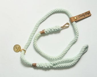 Dog Rope Leash,mint color Pet Leash