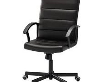 Adjustable Home Office Black Leather Chair