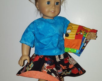 Handmade 3 Piece Outfit for the American Girl Doll or other 18 inch doll
