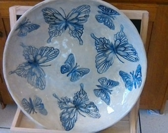 Gorgeous hand crafted bowl with butterflies
