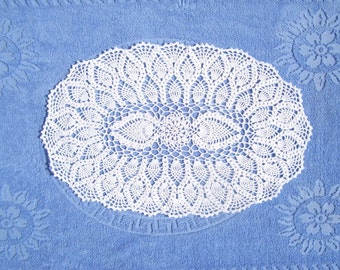 Crocheted Doilies, oval