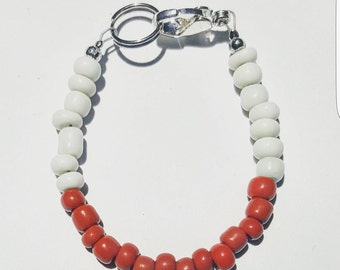 Red and white chunky bracelet