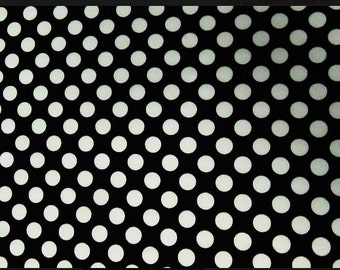 Black w/ White Dots Fabric Swatch