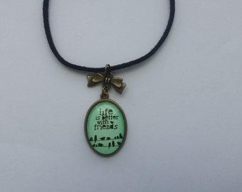 Friendship pendant necklace