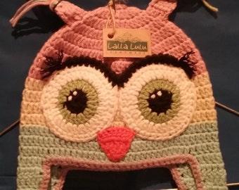 Girls Owl Beanie