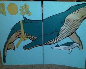 painting on two wooden panels