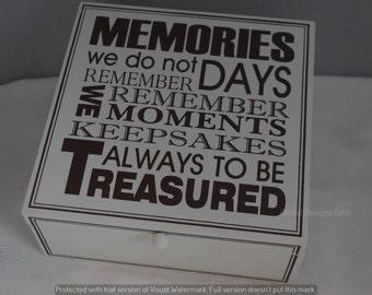 Memory Box Friendship Keepsake Treasured Memories  f0808