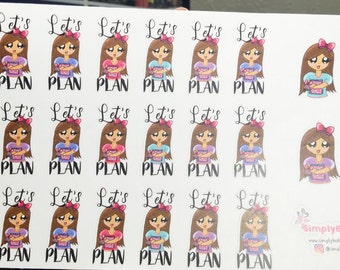 "Planner Stickers - ""Let's Plan"" Stickers"
