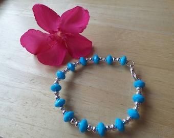 Acrylic silver blue Pearl bracelet