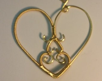 Asymmetrical Heart Pendant